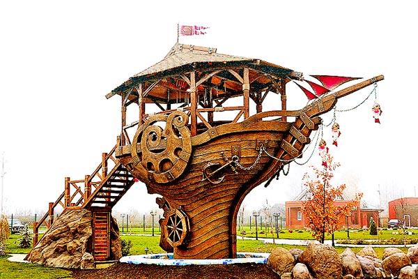 Беседка - корабль