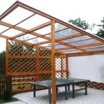 Крыша для беседки — используем поликарбонат