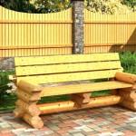 Деревянная скамейка для садовой беседки