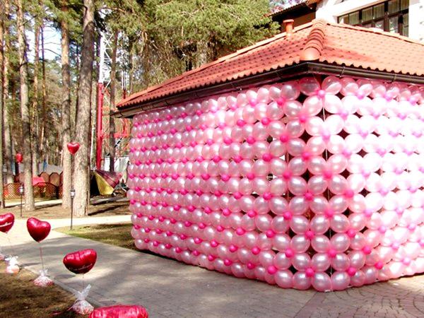Беседка воздушные шарики